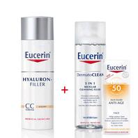 Eucerin Hyaluron Filler Oferta CC Cream tono claro + Regalo | Farmaconfianza