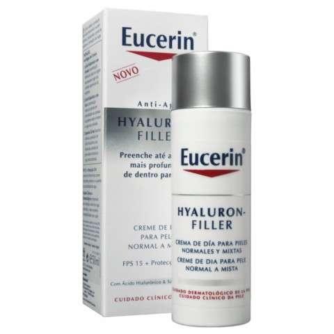Eucerin Hyaluron Filler Crema de Día Pieles Normales y Mixtas, 50ml con REGALO Solución Micelar DermatoClean
