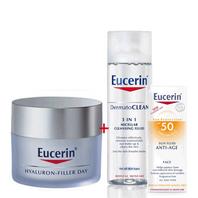 Eucerin Hyaluron Filler Oferta Crema de Día Pieles Secas, 50 ml + Regalo