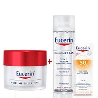 Eucerin Volume Filler Oferta Crema Facial de Día para piel normal y mixta con FPS15, 50ml. + Regalo