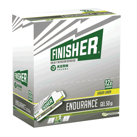 Finisher Endurance Gel Energético sabor limón, 12 geles x 50 g | Farmaconfianza