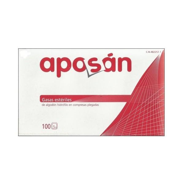 Aposán Gasa Estéril de Algodón, 100 unidades|Farmaconfianza