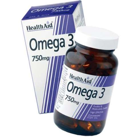 Health Aid Omega 3 750 mg, 60 cápsulas