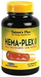 Natures Plus Hema-Plex II, 60 comprimidos
