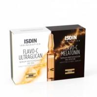 Isdinceutics Flavo-C Ultraglican Sérum Antioxidante de Día + Flavo-C Melatonin Sérum Reparador de Noche|Farmaconfianza