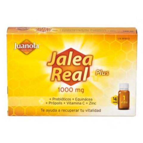 JUANOLA Jalea Real Plus 1000 mg, 14 viales.