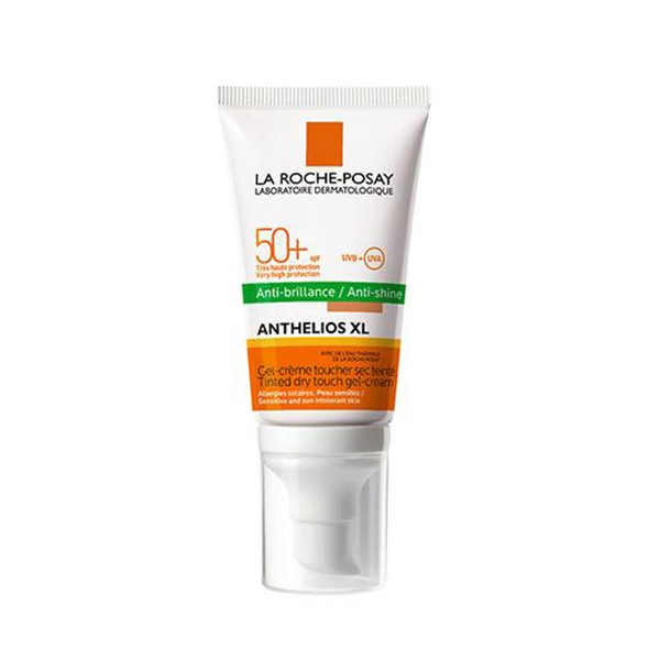 La Roche-Posay Anthelios SPF 50 Gel Crema Toque Seco Antibrillos Con Color, 50ml. | Farmaconfianza