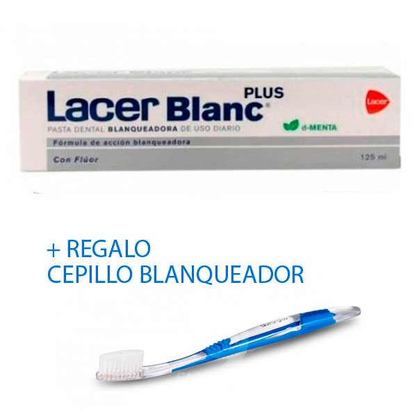 LacerBlanc Plus Pasta Dental Blanqueadora d-Menta, 125 ml. ! Farmaconfianza
