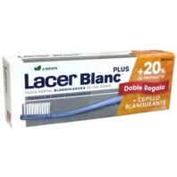 LacerBlanc Plus Pack Pasta Dental Blanqueadora d-Menta 125 ml + DOBLE REGALO +20% Producto + Cepillo Blanqueante