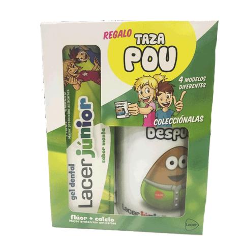 Lacer Gel Dentífrico Junior MENTA, 75 ml con REGALO Taza Pou