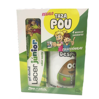 Lacer Gel Dentífrico Junior MENTA, 75 ml con REGALO Taza Pou