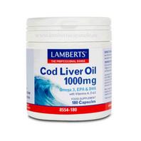 Lamberts Aceite de Hïgado de Bacalao, 100 mg, 180 caps