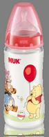 Nuk Biberón Látex Winnie de Pooh FIRST CHOICE T1: M (leche), 300 ml