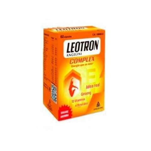 Leotron Complex Jalea Real, Gingseng, 12 Vitaminas y 4 Minerales, 60 cápsulas