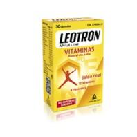 Leotron Vitaminas con Jalea Real, 12 Vitaminas y 4 Minerales, 30 cápsulas