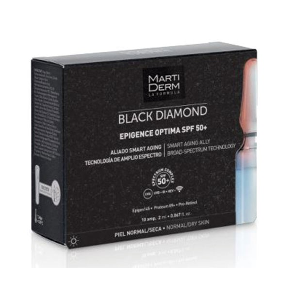 Martiderm Black Diamond Epigence Optima SPF50+, 30 ampollas | Farmaconfianza