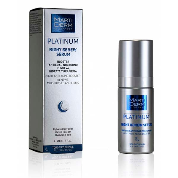 Martiderm Platinum Sérum Night Renew, 30 ml|Farmaconfianza