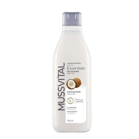 Mussvital Essentials Gel De Baño Hidratante Con Aceite De Coco 750 Ml