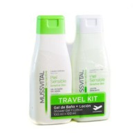 Mussvital Pack de Viaje Piel Sensible Gel de Baño, 100 ml + Loción, 100 ml