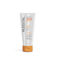 Mussvital Protector Solar Sport Gel Transparente SPF50, 50 ml | Farmaconfianza