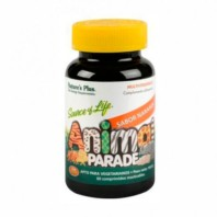 Natures Plus Animal Parade Multiv.Naranja, 60 comprimidos masticables