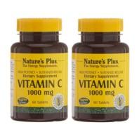 Nature's Plus Vitamina C 1000mg, OFERTA DUPLO 2x60 comprimidos | Farmaconfianza