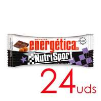 NutriSport Barrita Energética sabor chocolate con avellanas, 24 unidades x 46 g