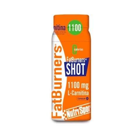 Nutrisport FatBurners SHOT quema grasas 1100 mg L-Carnitina, 60 ml.