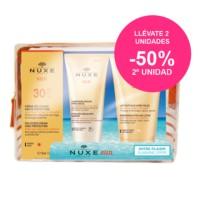 Nuxe Sun Cofre de Viaje Crema Fundente SPF30 + Champú-Gel After sun + Leche After-Sun Rostro y Cuerpo