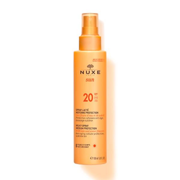 Nuxe Sun Leche Corporal y Facial Spray SPF20 | Farmaconfianza