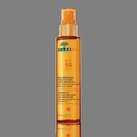 NUXE SUN Aceite Bronceador Rostro y Cuerpo SPF10, 150 ml
