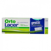 Lacer Ortolacer Pack Gel Dentífrico Lima Fresca, 75 ml + REGALO Cepillo Ortodoncia