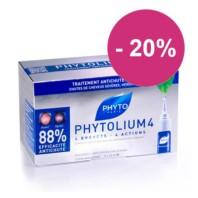 PhytoLium 4 Tratamiento Anticaída Hombre, 12 Ampollas