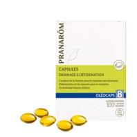 Pranarom 8 Oleocaps Detox Drenaje y Toxinas, 30 cápsulas | Farmaconfianza