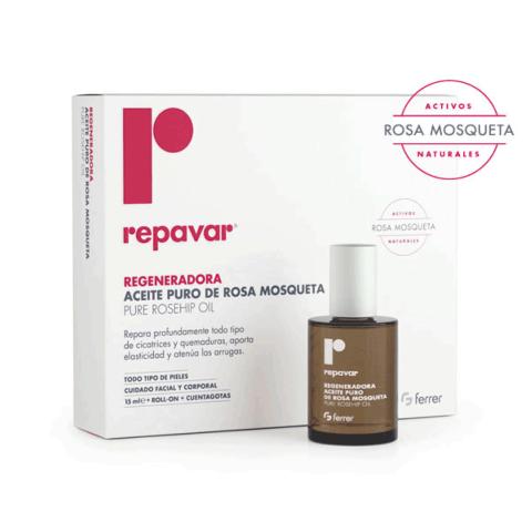 Repavar Regeneradora Aceite 100% Puro de Rosa Mosqueta, 15 ml