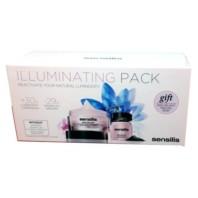 Sensilis Illuminating Pack, Crema de Día 50 ml + Peeling Negro 30 gr