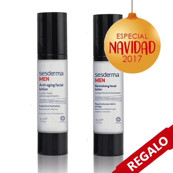 Sesderma Men Loción Antienvejecimiento, 50 ml + REGALO Sesderma Men Loción Revitalizante, 50 ml pack Navidad