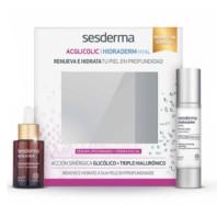 Sesderma Pack Acglicolic Sérum 30 ml + Hidraderm Hyal Crema Facial Hidratante, 50 ml