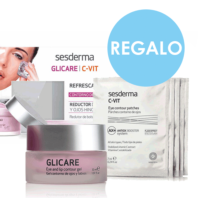 Sesderma Pack Oferta Mirada Radiante Glicare Contorno de Ojos + CVIT Parches Contorno