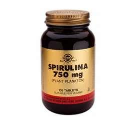 Solgar Espirulina, 100 comprimidos