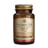 Solgar Vitamina D3 2200 UI, 100 cápsulas vegetales