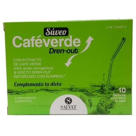SALVAT SUVEO Café Verde Dren-Out, 10 sobres