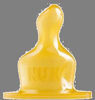 Nuk Tetina Classic Látex Orificio L: ALIMENTO T2, Blíster: 2U.