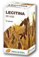 Vallesol Lecitina de Soja, 50 cápsulas