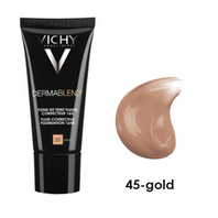 Vichy Dermablend Fondo de Maquillaje Fluído Corrector tono 45 - Gold, 30 ml