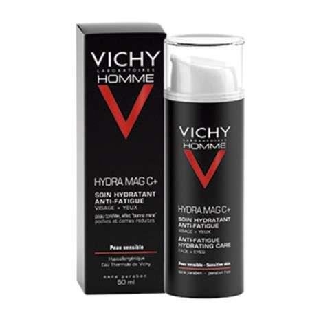 Vichy Homme Hydra MagC. Tratamiento hidratante antifatiga para rostro y ojos