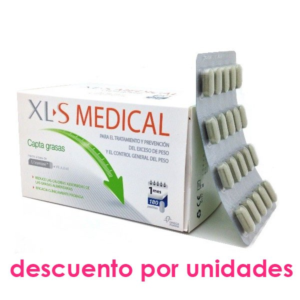 XLS Medical Captagrasas, 180 comprimidos