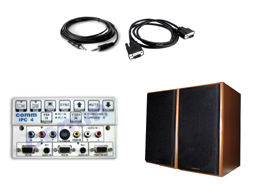 KIT MULTIMEDIA PARA PDI (CABLES + ALTAVOCES + MESA CONTROL)