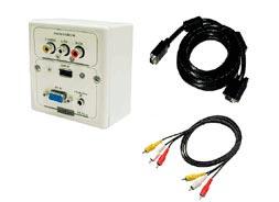 CAJA ABTUS VGA/USB IFP/701-A + CABLE VGA 10m + AUDIO 10m