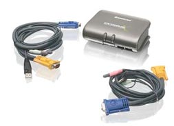 IOGEAR SWITCH KVMP 2 PUERTOS USB/PS2/AUD/PERIF GCS1732